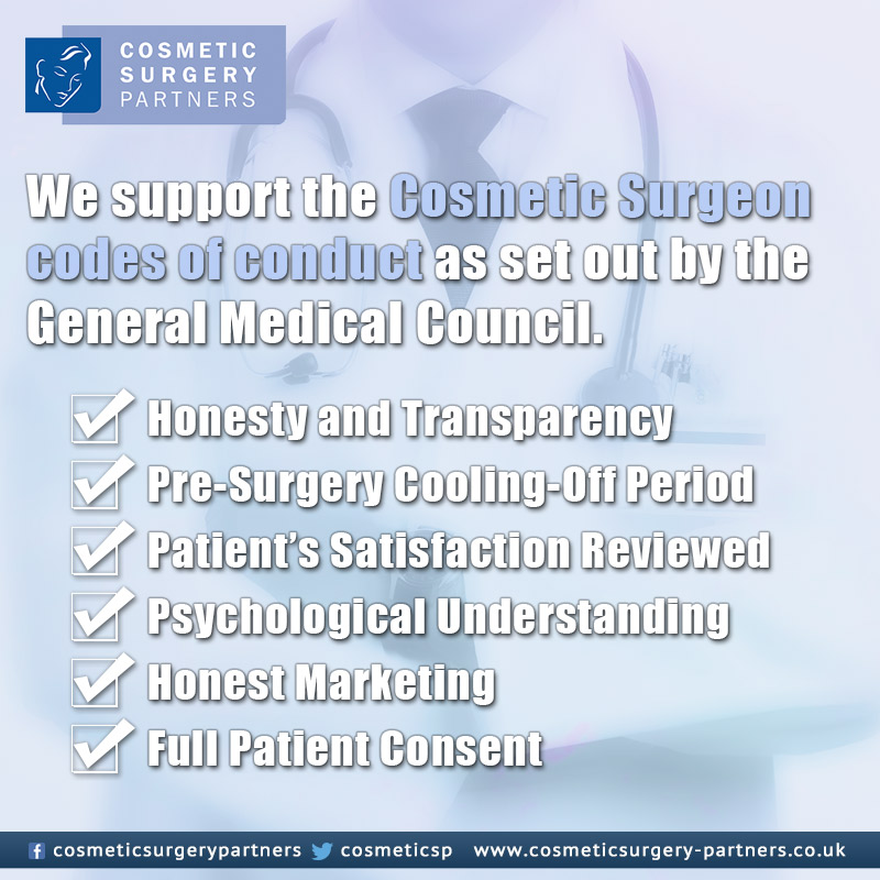 Cosmetic surgery partners general medical council