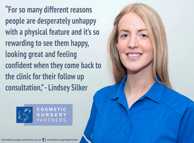 Cosmetic surgery nurse Lindsey Silker