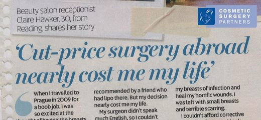 Don't go abroad for cheap Cosmetic Surgery: A warning from patient