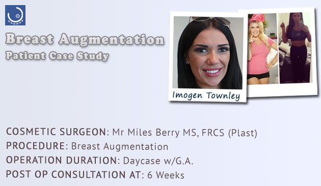 breast augmentation patient review Miles Berry London