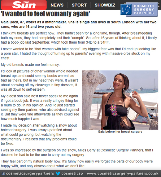 Breast Augmentation London review