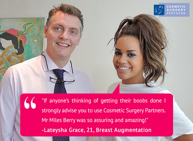 Breast Augmentation patient Lateysha Miles Berry surgeon