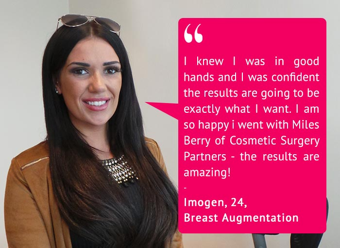 Imogen Townley at Cosmetic Surgery Partners Breast Augmentation review